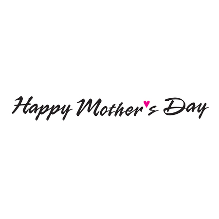 hand lettering: mothers day hand lettering handmade calligraphy Illustration