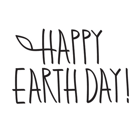 earth day: happy earth day lettering