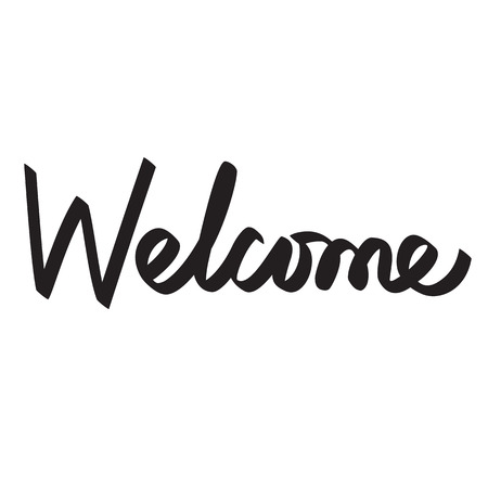 cordial: welcome lettering calligraphy Illustration