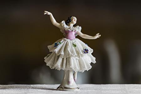 small ceramic statuette dancer photo