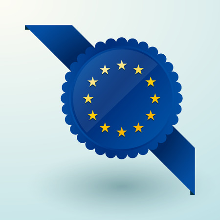European Union as a brand label overlay