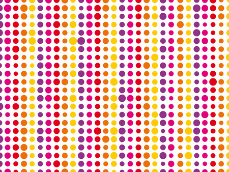 sized: colorful background composed of different sized dots Illustration