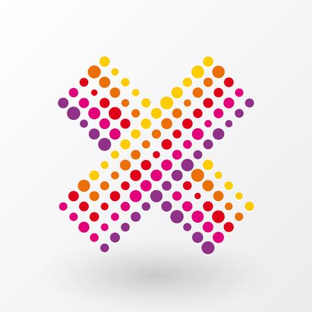 no icon composed of polka dots Vector