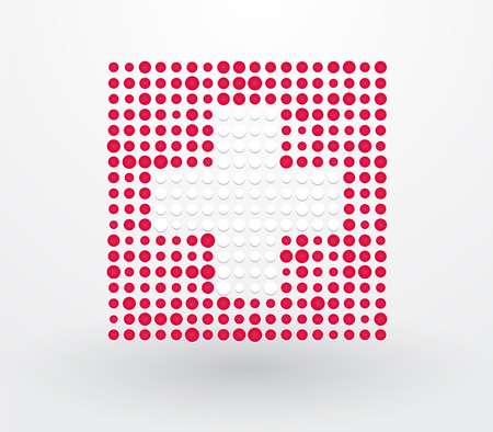 Switzerland flag made ​​up of dots Vector
