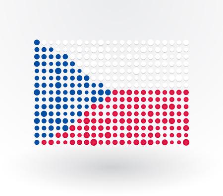 czech flag: Ceco bandiera fatta di punti