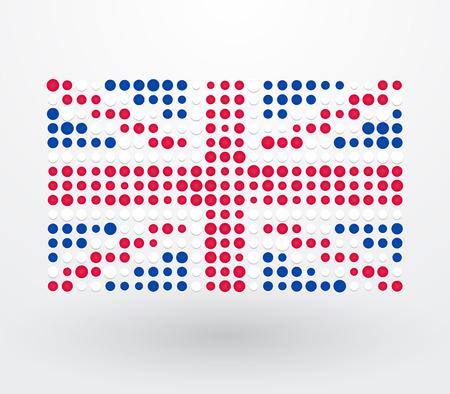 bandera de gran breta�a: Gran bandera de Gran Breta�a compuesto de puntos