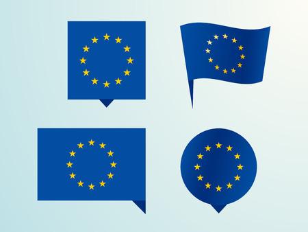 Flag of the European Union as a pin Vector