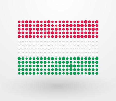 magyar: Hungary flag made up of small dots Illustration