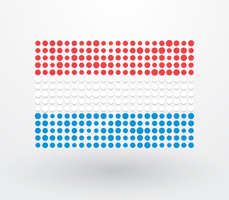 Luxembourg flag made up of small dots Vector