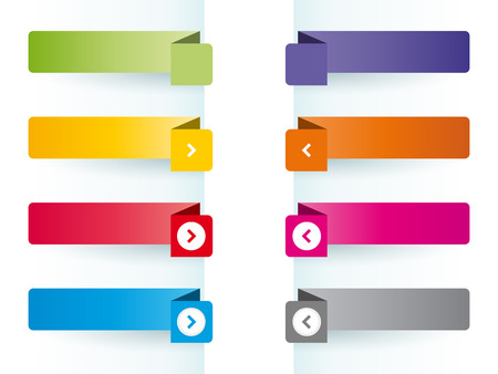 Simple colorful banners as bookmarks Vector