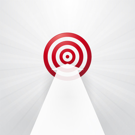 red target with a white arrow Vector