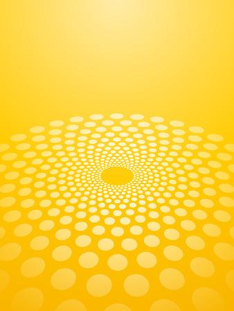 Abstract yellow background circles in perspective Illusztráció