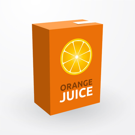carton of orange juice Vector