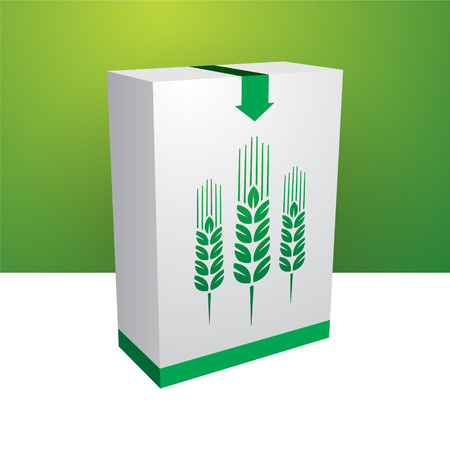 White box with green grain Vector
