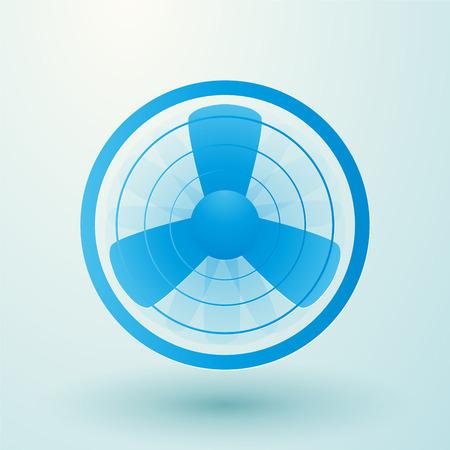 spinning: spinning fan symbol Illustration