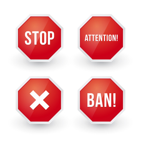 staying: stop sign with various content