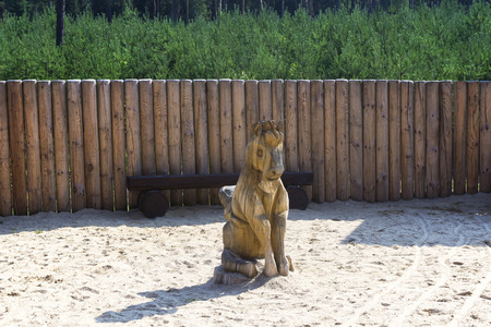 wooden horse statue by palisades photo