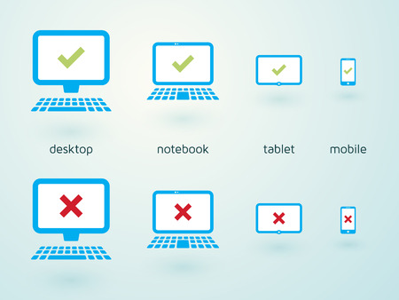 set of icons for responsive webdesign Vector