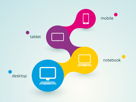 diagram for responsive webdesign Vector