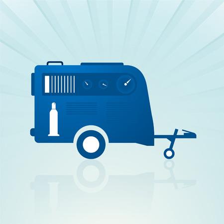compressed: auto trailer with compressor