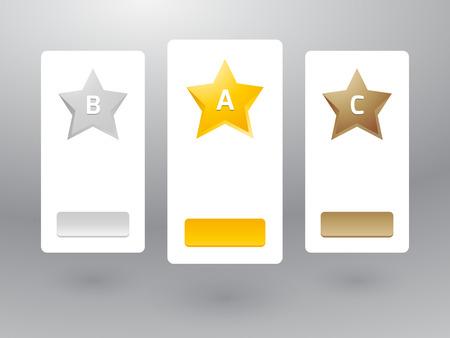 Preistabelle mit Sternen aus Metall Standard-Bild - 32572025