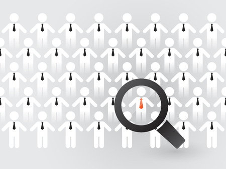 customer focus: search for suitable employees Illustration