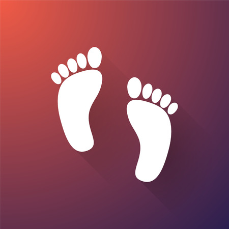 foots: The human foots with long shadows Illustration