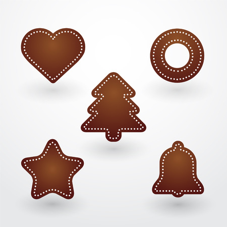 baked Christmas gingerbread Vector