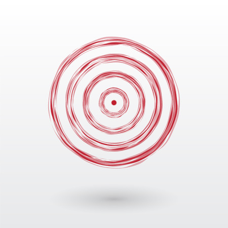The red target composed of thin lines Vector