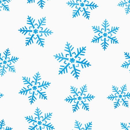abstract winter seamless background with snowflakes motive Vector