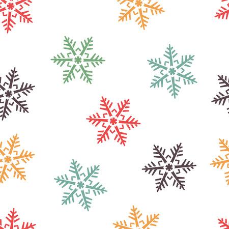 abstracte winter naadloze achtergrond met beweegreden sneeuwvlokken