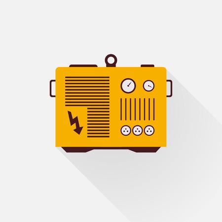 Gelb-Generator mit langen Schatten Standard-Bild - 34590417