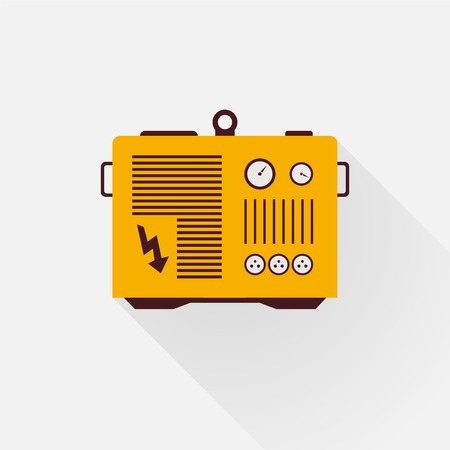 yellow generator with long shadows Vector