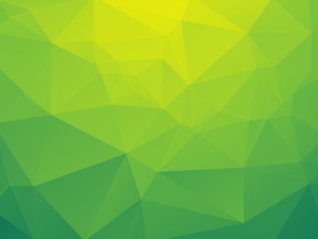 abstract triangular yellow green bio background Vector