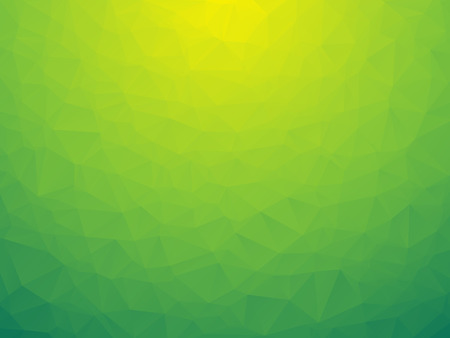abstract triangular yellow green bio background low poly Ilustrace