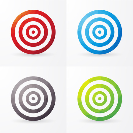 targets: set of colored targets isolated on a white background