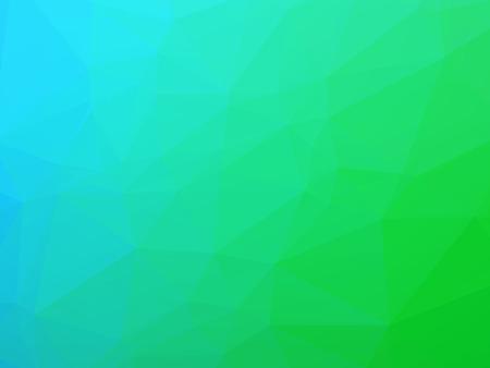 三角形の色のグラデーションで青緑の光背景  イラスト・ベクター素材