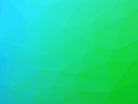 teal light background with color gradients of a triangle