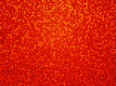 orange yellow red checkered background with a light vignette Vector