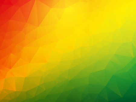 triangular banner: abstract triangular red yellow green background