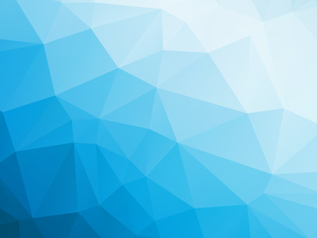 abstract triangular blue white winter background Vector