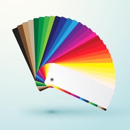 ontwikkelde kleurstalen palet met heldere kleuren Stock Illustratie