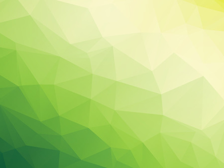 abstract triangular yellow white green bio background Vectores