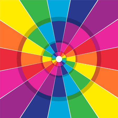 dividing lines: Brightly colored abstract circular background with dividing lines