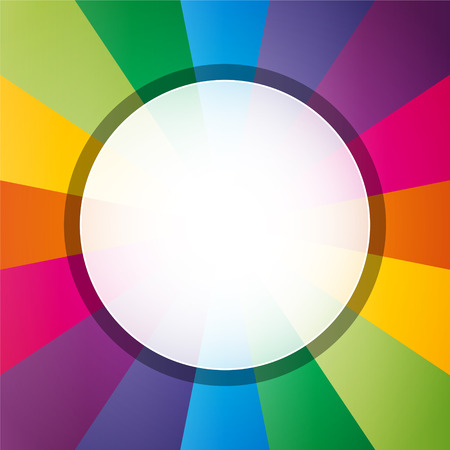 white hole: circularize colorful background with white hole in the middle Illustration