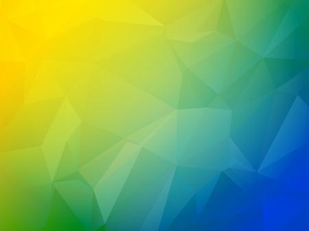 Mooie blauwe groene en gele driehoekige achtergrond Stockfoto - 37889278