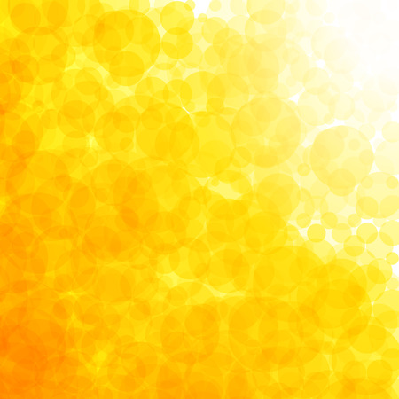 bright yellow background from circles Vector