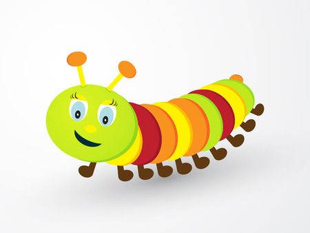 children cheerfully colored caterpillar Vector