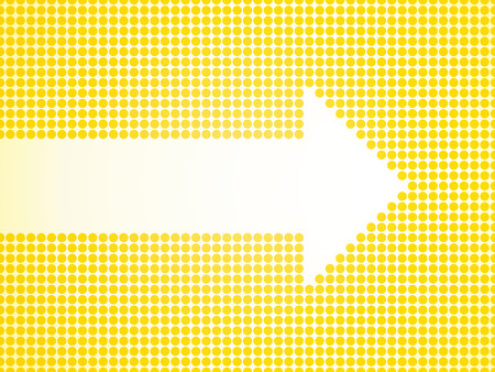 defined: White arrow defined small yellow dots Illustration
