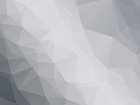mosaic abstract: modern black white gray triangular background Illustration